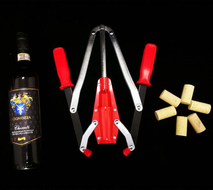Home Kitchen Use Wine Bottle Capping Machine , Iron Plastic Double Lever Corker